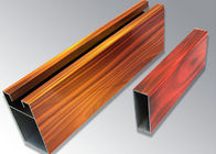 Wood  Metal Rectangle Aluminum Veneer Panel ,  Decorative Materials Aluminum Solid Panel