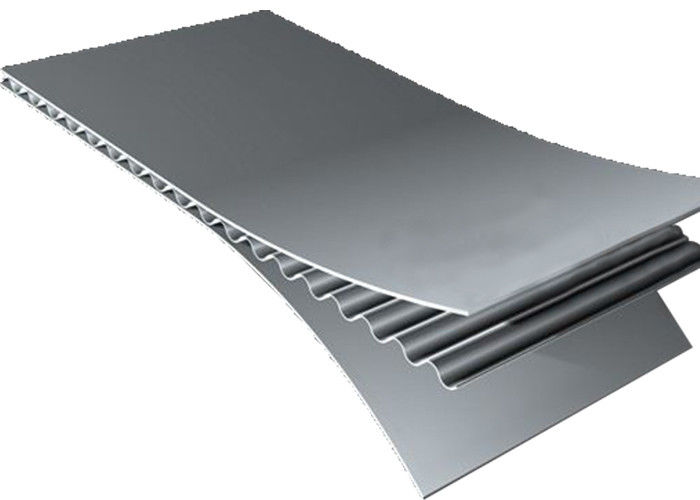 Low Maintenance Corrugated Aluminum Composite Panels Light Weight Moisture Proof