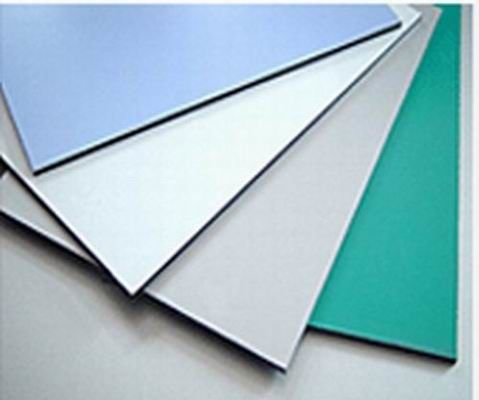 3003 Series Dupont Polymer Adhesive Silver Color 5mm Aluminum Exterior Commercial Building Wall Panels
