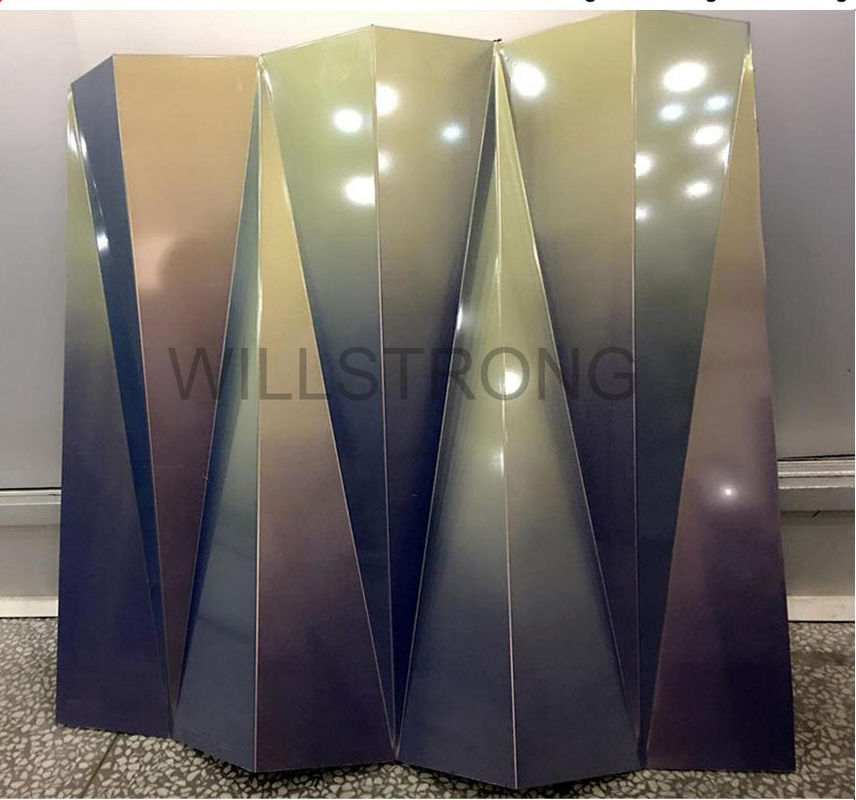 Waterproof Aluminum Composite Panel Cladding Max Length 9000mm