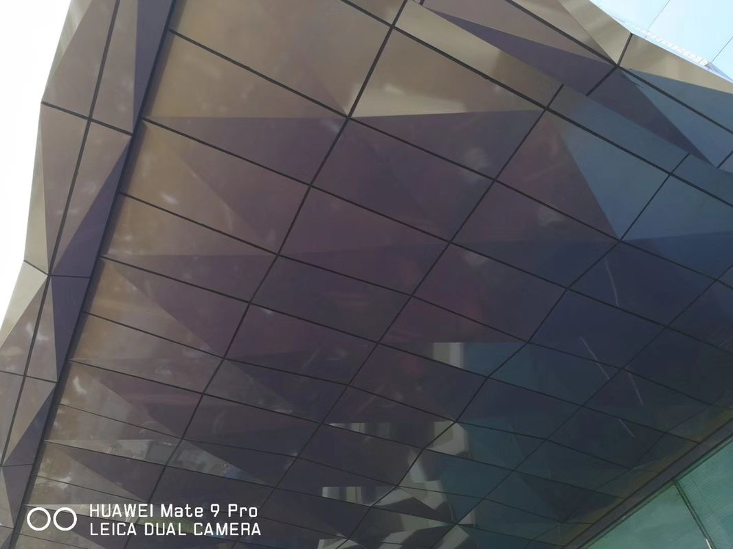 3D Shape 4mm Thickness Aluminum Composite Panels For Shading Spectra Color