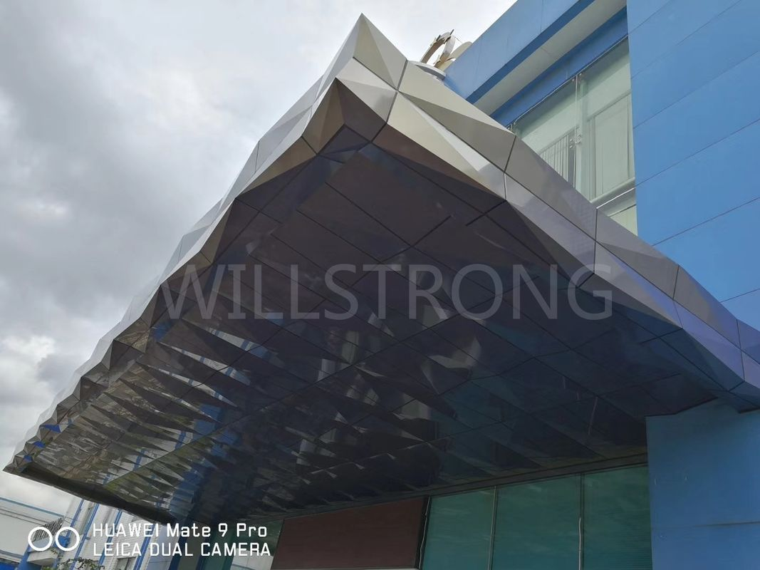 Fireproof Safe 3D Shape Aluminum Plastic Laminate Sheet , Aluminum Wall Panels Exterior
