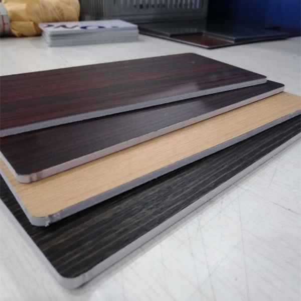 Fireproof Core Wood Grain Aluminum Composite Panel For Room Decoration